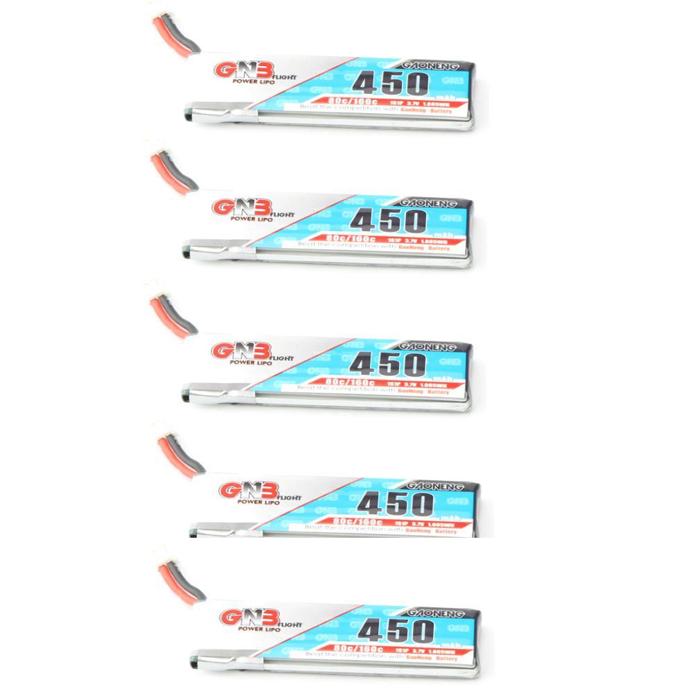 LeadingStar gaoneng GNB LiPo Батарея 450 мАч 80/160C 1 s 3,7 В с PH2.0/51005 белый штекер Бэтти для RC FPV Racing Drone