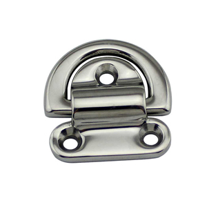Image 3 - 6mm/8mm/10mm Stainless Steel D Ring Deck Folding Pad Eye Lashing Tie Down Cleat for Marine Yacht Boat Accessories