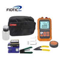 De fibra óptica FTTH Kit de herramienta de fibra Cleaver FC6S Mini medidor de potencia óptica, localizador Visual de fallos 5MW 15MW de alambre stripper miller abrazadera