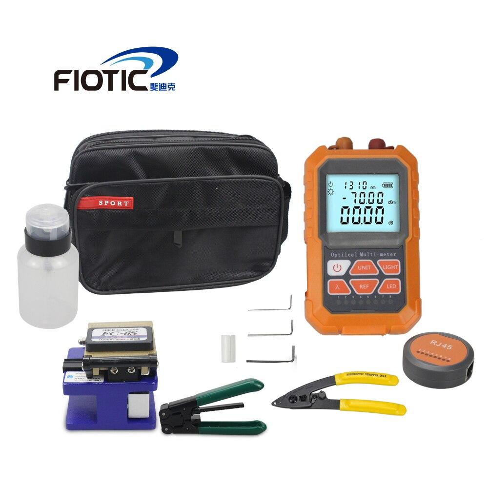Trousse à outils FTTH à Fiber optique pince à épiler FC6S Mini compteur de puissance optique localisateur de défaut visuel pince à dénuder 5MW 15MW