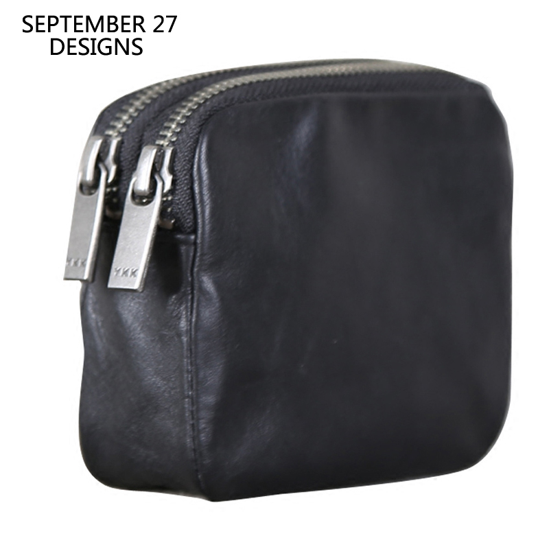Coin Purses Women Genuine Leather Casual Zipper Coin Pouch 100% Cowhide Men Credit Card Wallets Small Coin Pocket Lady Money Bag