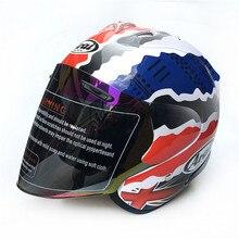 Бесплатная доставка 2017 Arai двойного назначения мотоциклетный шлем в виде черепа Capacete каско новинка ретро мотоцикл открытый шлем