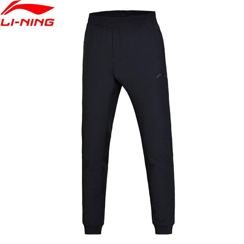 Li-Ning Men Training Sweat Pants Regular Fit 88% Polyester 12% Spandex Comfort Exercise LiNing Sports Pants AKLN007 MKY361