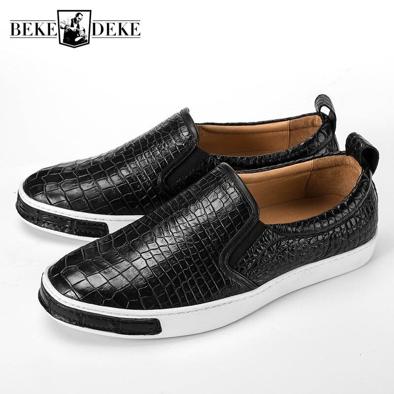 La D'affaires Appartements Pour brown Crocodile À Main Sur Marque Chaussures Hommes Sneakers Cuir Black Mocassins En Glissement Noir Travail Décontracté Designer 5Rq3AjLc4