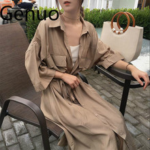 Women cardigan pocket half Sleeve Brown Dress Oversize Collar Buttons Long Shirt Dresses Women Casual Dress Robe Femme Vestido giyu summer women shirt dress casual striped printing dresses turn down collar vestido long sleeve basic robe femme