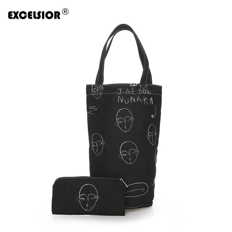 Women's Handbags Embroidery Shoulder Bag Canvas Tote Bag Beach Bucket For Girls G1966