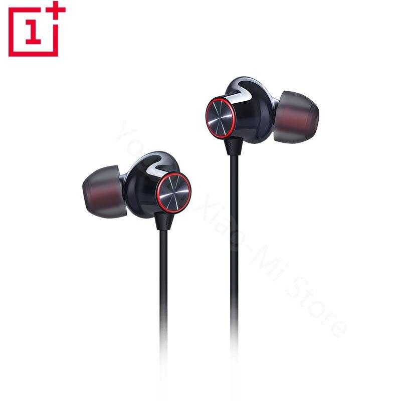 Original OnePlus Bullets Wireless 2 Bluetooth Magnetic Control Mic In Ear Earphone Hybrid AptX Fast Charge