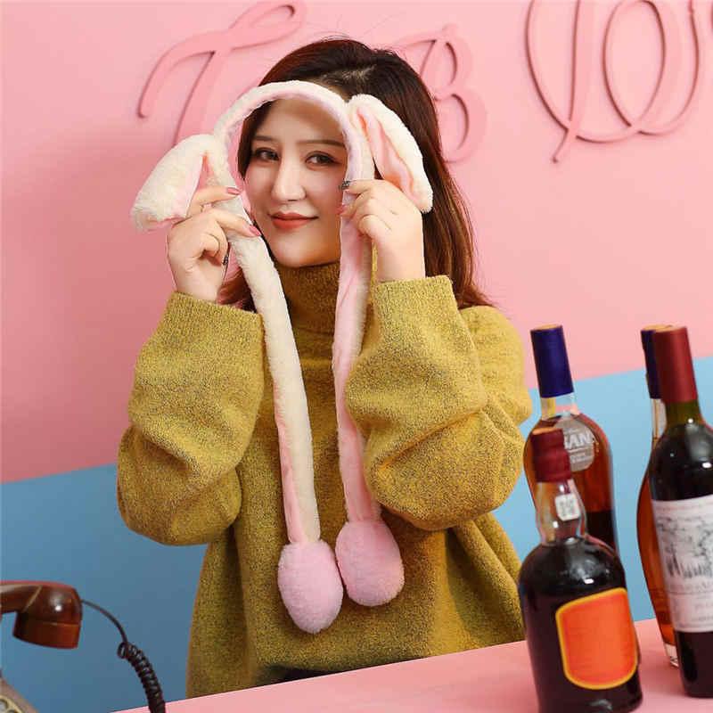 Горячая Распродажа, милая шапка с заячьими ушами, может перемещать подушки безопасности, магнит, шапка, плюшевый подарок Танцующая игрушка на открытом воздухе, полиэстер, Sombrero Hombre Gorras Mujer