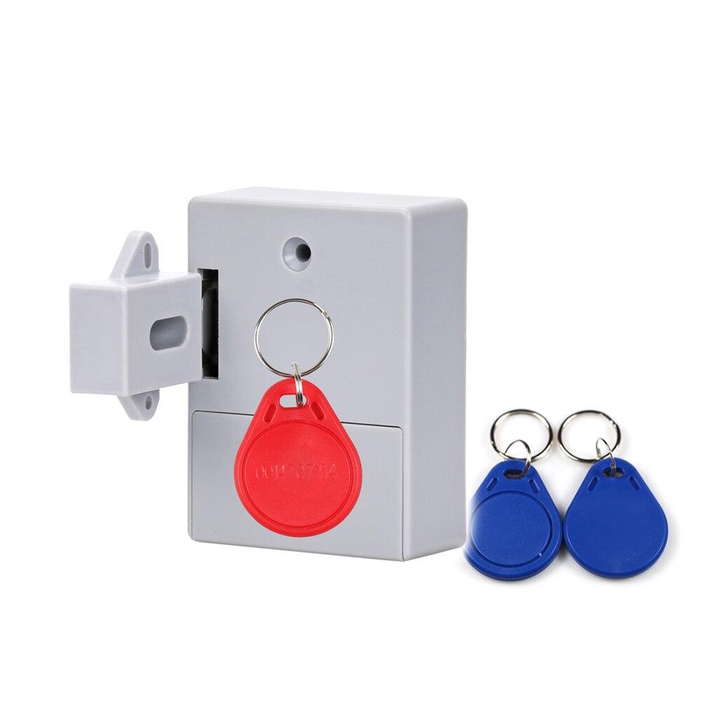 Aa bateria seca invisível rfid armário eletrônico fechadura da porta do armário fechadura do guarda-roupa fechadura privada 125 khz em fechadura da gaveta rfid