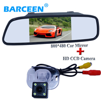 Car Back Up Camera With Led Lights IP 69k Water Proof With Car 5 Lcd Display