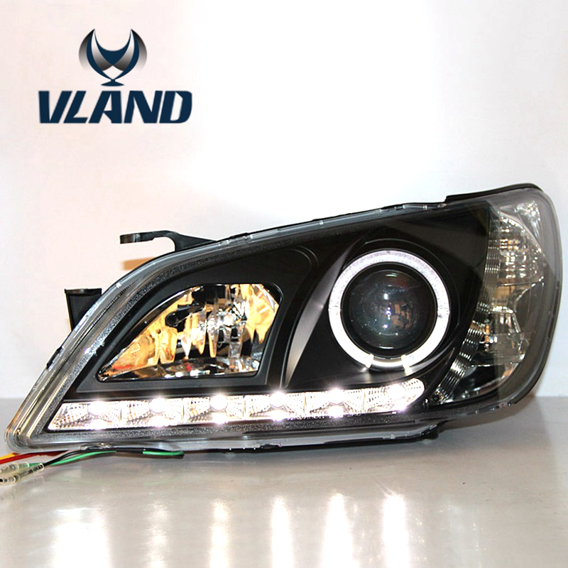 Free shipping vland factory  for IS200 IS300 LED Headlights 2001 2202 2003 2004 2005 angel eyes plug and play supra is 2202
