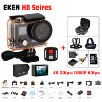 Ultra HD 4K 30FPS Action Camera Wifi Camcorders EKEN H8 Pro H8R 170 Go Cam Deportiva