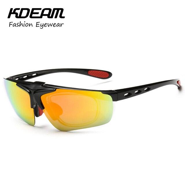 KDEAM Sport Goggles For Men Polarized Sunglasses Clip On Sun Glasses Women Gafas Polarizadas Wind Proof Shades With Box KD128P
