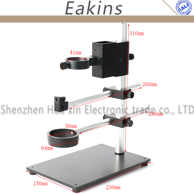Multifunction Full Metal Dual Arm Boom Stand Rotatable Adjustable Holder Stand For Lad Digital Video Microscope Camera