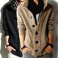 2017 новых осенью и зимой моды пиратская пряжка стенд воротник мужской свитер утолщаются вязаный шерстяной рубашки