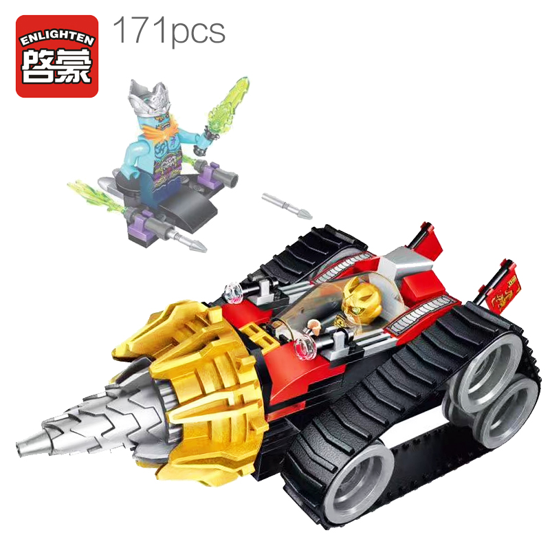 Enlighten Models Building toy Compatible with Lego E2208 171pcs Armored Blocks Toys Hobbies For Boys Girls Model Building Kits