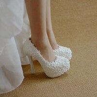 BaoYaFang Yeni Varış Dantel düğün ayakkabı 6 cm/11 cm büyük boy 34-46 Gelin parti elbise ayakkabı kadın Yüksek ayakkabı ücretsiz kargo
