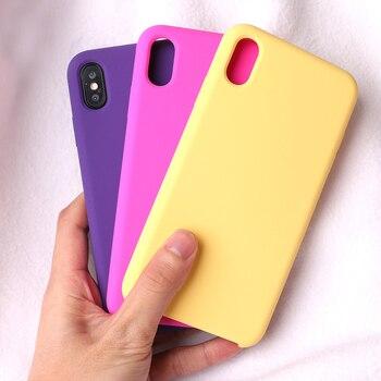 Ikase Store Original Liquid Silicone Phone Case For iPhone XS Max XR X 8 7 6 6S Plus silicone Cover For Apple 8Plus 7Plus 6plus