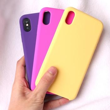dd089f65245 Ikase tienda líquido Original caja del teléfono de silicona para iPhone XS  Max XR 8X8 7 6 6 S Plus de silicona cubierta para Apple 8 Plus 7 Plus 6 plus