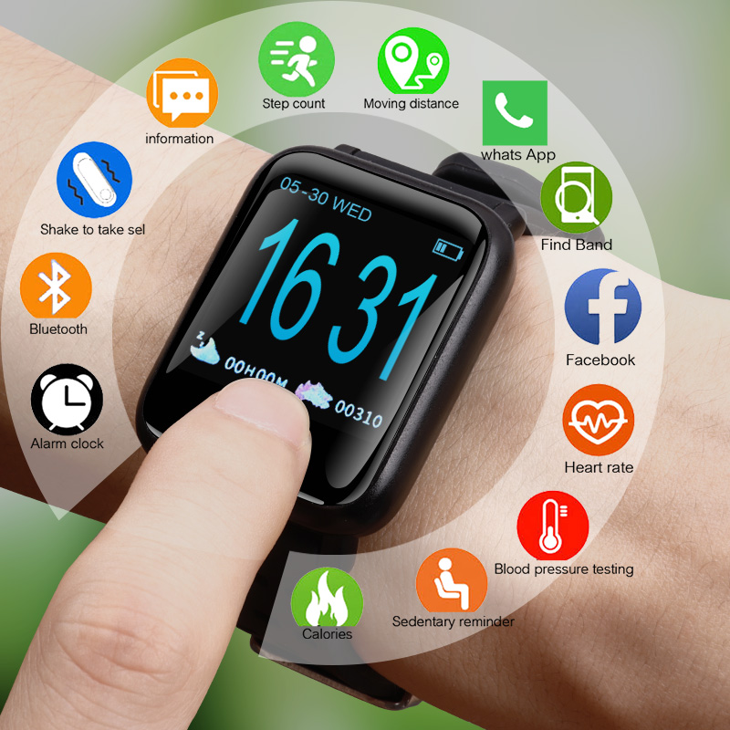 Smart Watch Men Blood Pressure IP67 Waterproof Smartwatch Women Heart Rate Monitor Fitness Tracker Watch Sport For Android IOS