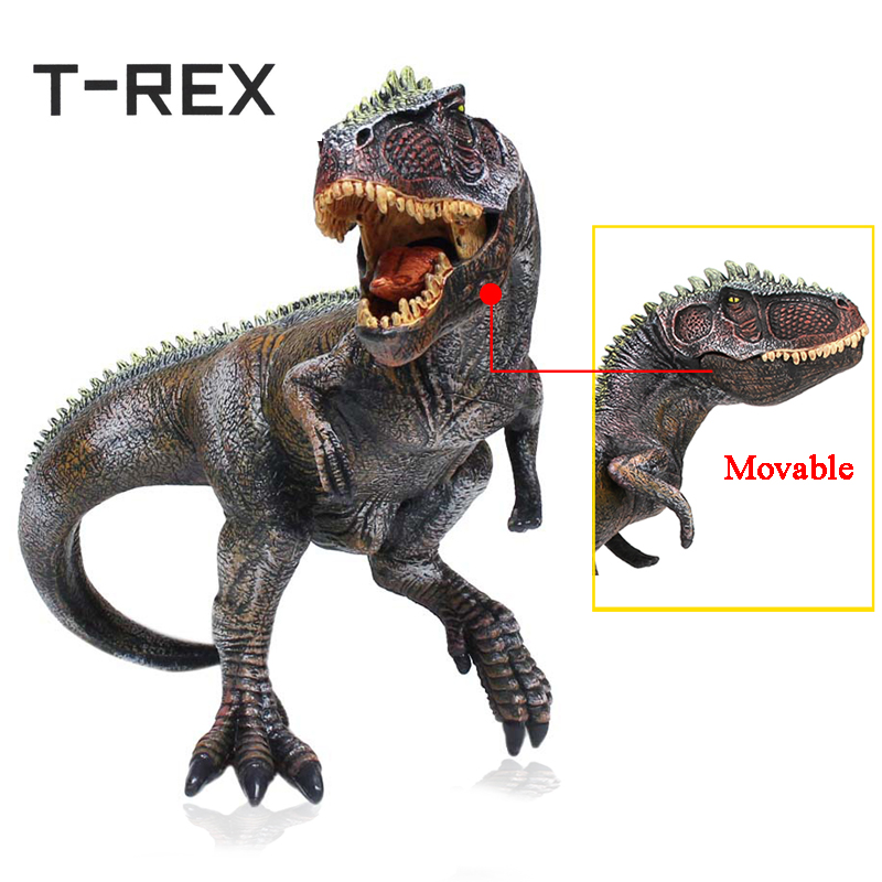 T-REX Jurassic World Giganotosaurus Dinosaur Model Toys Movable Mandible Realistic Plastic Animal figures Educational Gifts wiben jurassic giganotosaurus dinosaur toys action figure animal model collection learning