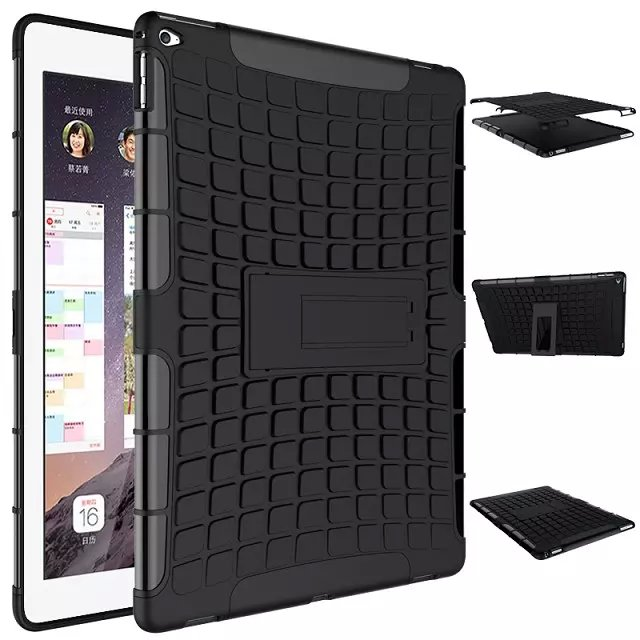 size 40 285d7 52e3d US $14.58 |For iPad Pro 12.9 inch Shockproof Dual Layer Grip Defender Armor  Case Heavy Duty Combo Hybrid Tablet Cover with kickstand-in Tablets & ...