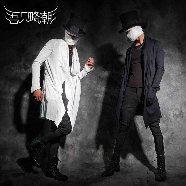 2015 homens roupas de primavera e outono masculino personalidade fino cardigan outerwear roupas boate