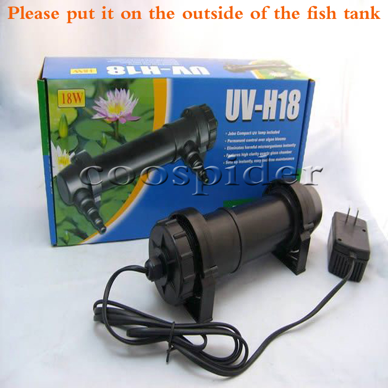 Jebo 18w wattage uv sterilizer lamp light ultraviolet for Uv fishing light
