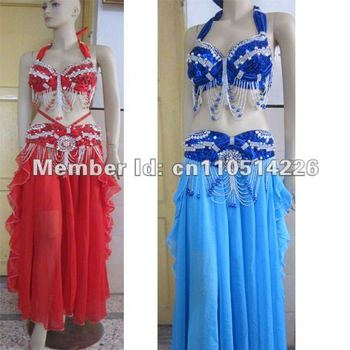 tailored customers size new costumebelly dance costume set BRA(38D)+belt 2 piece/ set ,accept any size