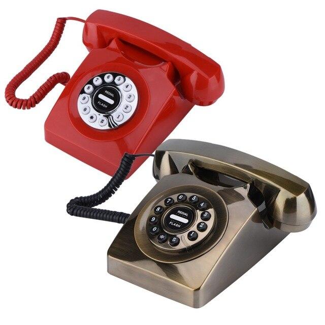 Estilo ocidental Do Vintage Armazenamento De Números de Telefone do Seletor Giratório Antigo Retro Telefone Fixo