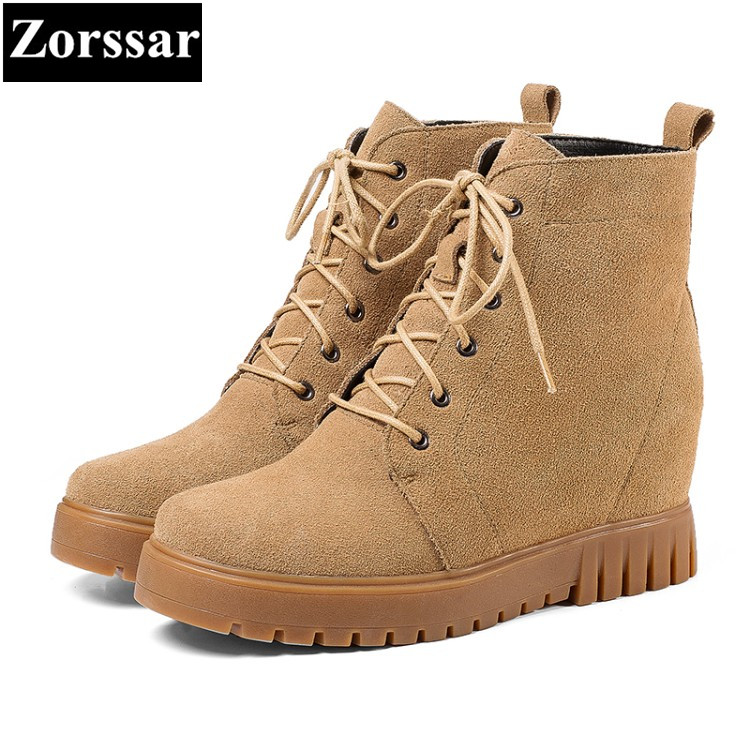 {Zorssar} 2017 NEW winter female shoes suede Height Increasing platform ankle snow Boots fashion High heels women short boots high quality 440mm 17 inch hand riveter pull rivet nut riveting tools with one die of m10 free shipping bt 604 auto remove nut