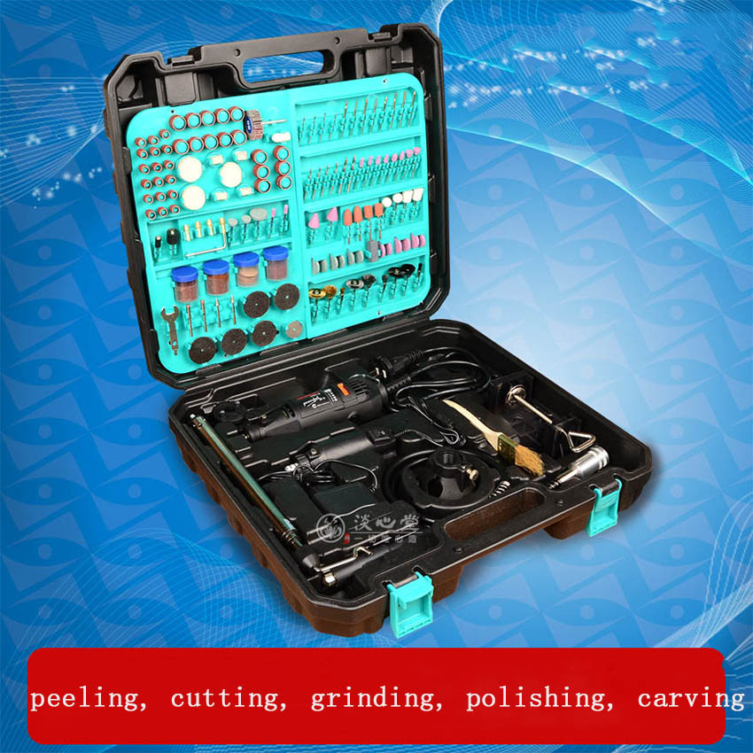1pc Dremel Rotary Tool Double Electric Mill Det Jade/Beeswax Carving Machine Woodworking Polisher/Electric Grinder FL0930 high quality jade polisher tool kit electric rotary grinder engaving machine 220v electric hanging mill tool