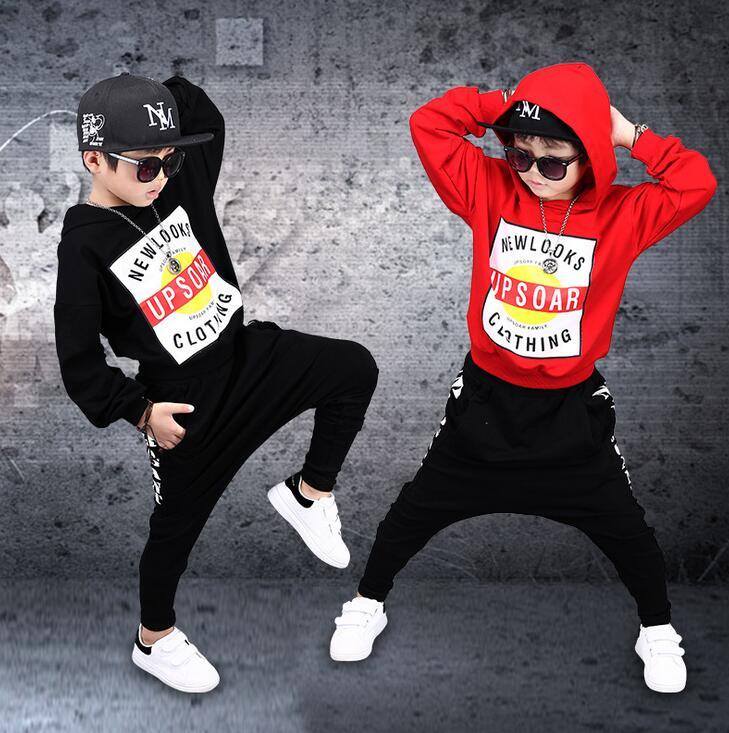 Autumn Spring boys clothes Outfits Sport clothing Set Teen girls hip hop children Tracksuit Sweatshirt + Haren pants 3 -14 Years new fashion children s clothing set brand dance wear costumes autumn kids sport suits hip hop boys tracksuit pants