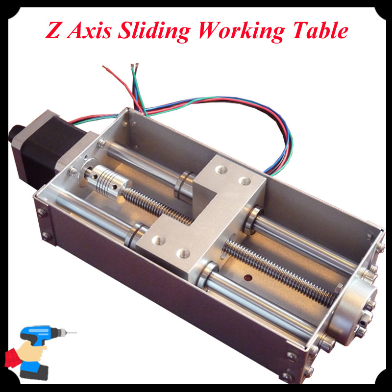 1pc Z Axis Sliding Working Table 140mm Stroke CNC Z Axis for CNC