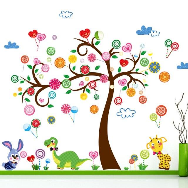 Pohon Permen Kelinci Hewan Kura Kura Kamar Tidur Kamar Anak Anak