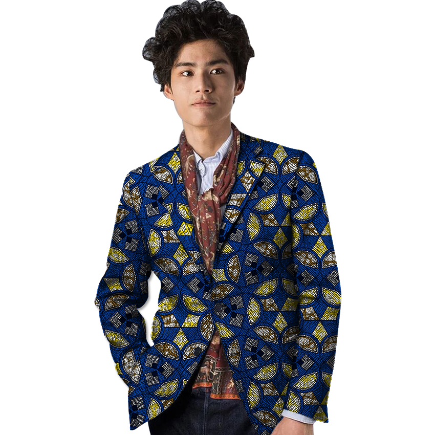 Fashion Africa Style Dashiki Print Suit font b Jacket b font African Festive Man Blazer For