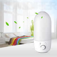 3 2L Ultrasonic Air Humidifier Aroma Oil Diffuser 360 Degree Rotating Outlet Mist Maker Anti Dry