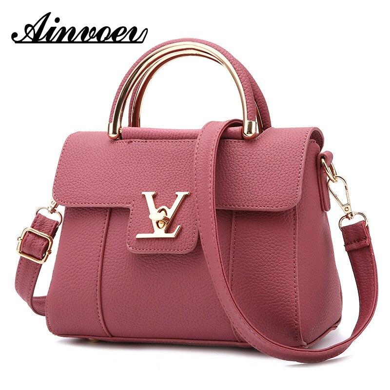 Ainvoev 2019 Fashion Women's Luxury Leather Clutch Bag Ladies Handbags Brand Women Messenger Bags Famous Tote Bag CE3673