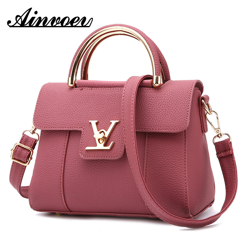 Ainvoev 2019 Fashion Women's Luxury Leather Clutch Bag Ladies Handbags Brand Women Messenger Bags Famous Tote Ce3673
