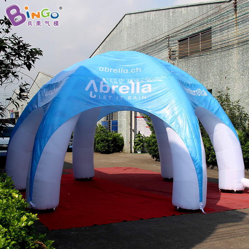 Free shipping 6m Inflatable spider tent with 6 pillars customized inflatable dome tent for advertising commercial event toy tent|toy tents|tent free shippingtent tent - title=