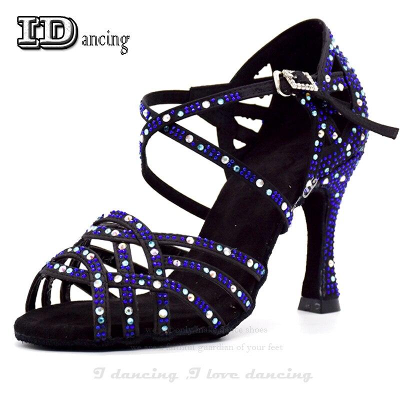 Femmes chaussures de danse de salon Salsa chaussures de danse latine chaussures de danse carrées Samba Tango chaussures de valse pour les femmes mode JuseDanc
