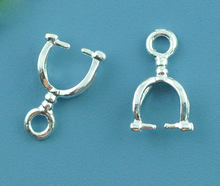 "Copper Pendant Bails Clips & Pendant Clasps Silver Plated 12mm( 4/8"") x 7mm( 2/8""), 2 PCs new(China)"