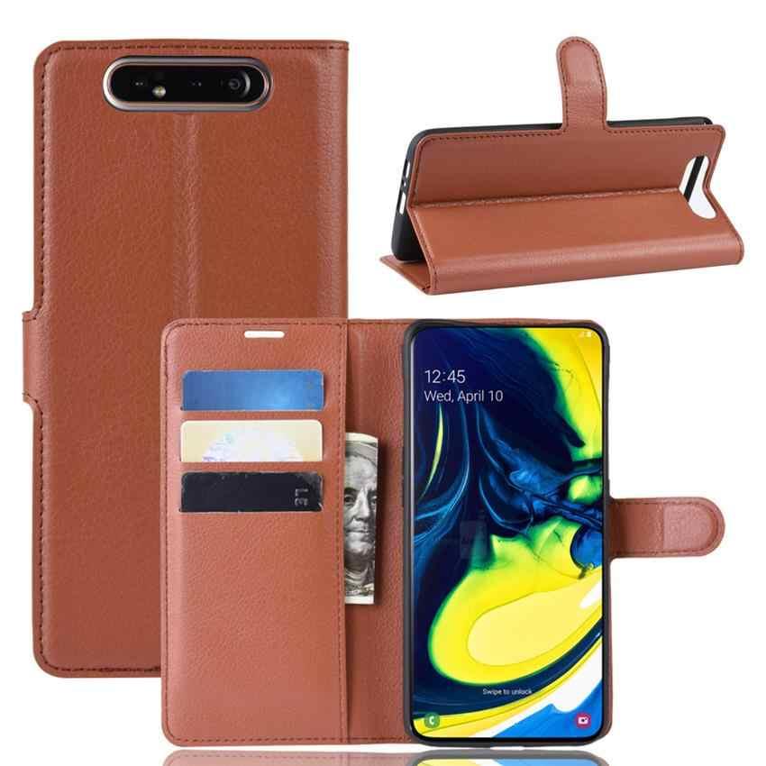 Funda de teléfono para Samsung Galaxy A80 Flip Funda de cuero para Galaxy A80 funda de libro billetera para Samsung Galaxy A80 pantalla protector