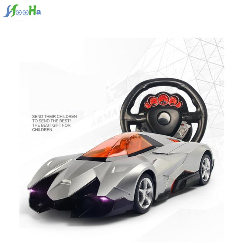 Trick One Key To Open The Door Simulation Model Toy Steering Wheel Remote Control Car Large 1:12 Sports Gravity Induction