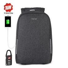 2017 Summer Tigernu Multifunction Anti thief USB 15 6inch Laptop Backpack Women School Backpack Men Bagpack