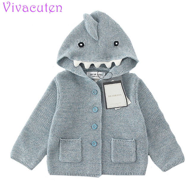 2018 Girls Knitted Cardigan Girls Sweaters Rainbow Clouds Sweater Baby Coat  Top Clothes For Kids Hoodie Ear Coat