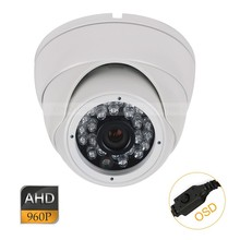 CCTV AHD 1.3MP 960P OSD Security Indoor Metal Dome Camera 3.6mm Lens