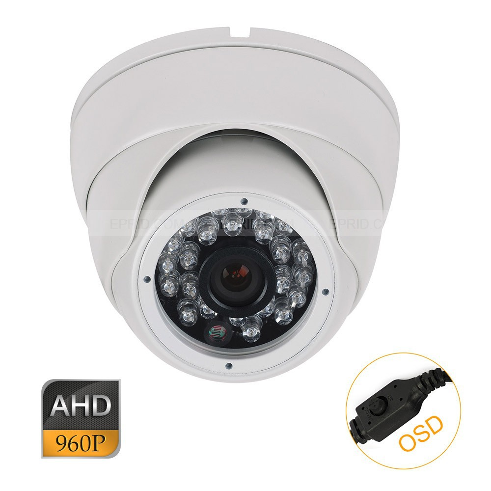 CCTV AHD 1.3MP 960P OSD Security Indoor Metal Dome Camera 3.6mm Lens энциклопедия cctv 4dvd