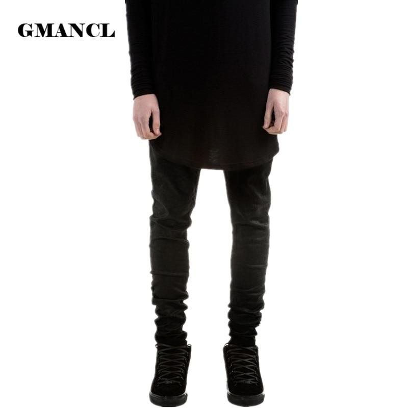 Новая мода Для мужчин S Черный обтягивающие джинсы Брюки Для Девочек Привет-улица хип-хоп SWAG Для мужчин Denim Joggers Брюки для девочек известный Брендовая Дизайнерская обувь Для мужчин мотобрюки