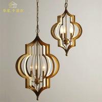 Vintage Black Birdcage Pendant Lights Iron Minimalist Retro Light Loft Lamp Metal Cage Industrial Lighting Pendant Lights E27